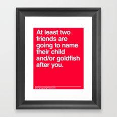 Baby/Goldfish names Framed Art Print