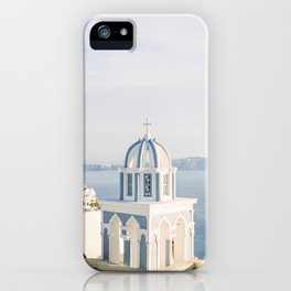 Pastel Blue Church iPhone Case