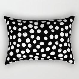 Sun Circle in Black and White Rectangular Pillow