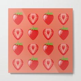 Strawberry Delight Metal Print