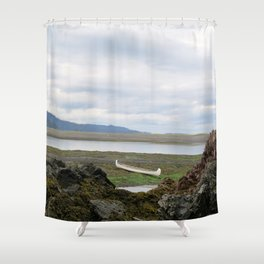 Abandoned :: A Lone Canoe Shower Curtain