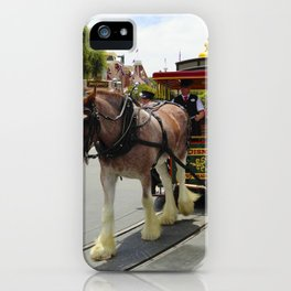 Horse-Drawn Trolley II iPhone Case