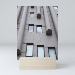 brutalist columns - rogers stevens building leeds Mini Art Print