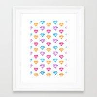 gem Framed Art Prints featuring Gem by Aneela Rashid