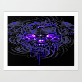 Purple Nurpel Skeletons Art Print