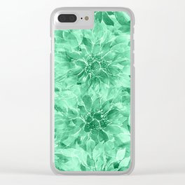 The Smell of Spring 3 / Monochrome / Green Clear iPhone Case