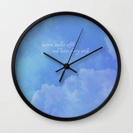 heaven smiles softly Wall Clock