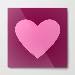 Heart No. 1 -- Magenta Metal Print