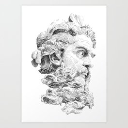 Neptune God of the Sea Art Print