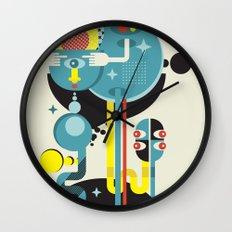 Blue Monster. Wall Clock