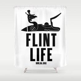 Flint Life - Longhunter Flintlock Shower Curtain