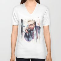 nicolas cage V-neck T-shirts featuring Nicolas Cage by Olechka