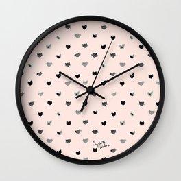 Cat Dot Wall Clock