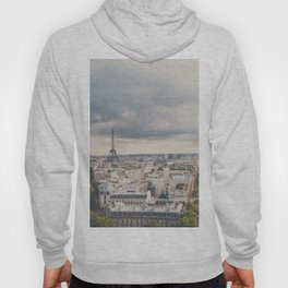 the Eiffel Tower in Paris on a stormy day. Hoody