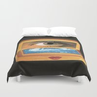poem Duvet Covers featuring The poem object of dreams  by Mariano Peccinetti