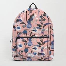 Pastel spring flowers pattern Backpack
