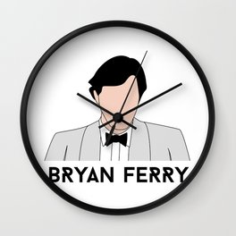 No Face Ferry - Another Time, Another Place (Bryan Ferry) Wall Clock