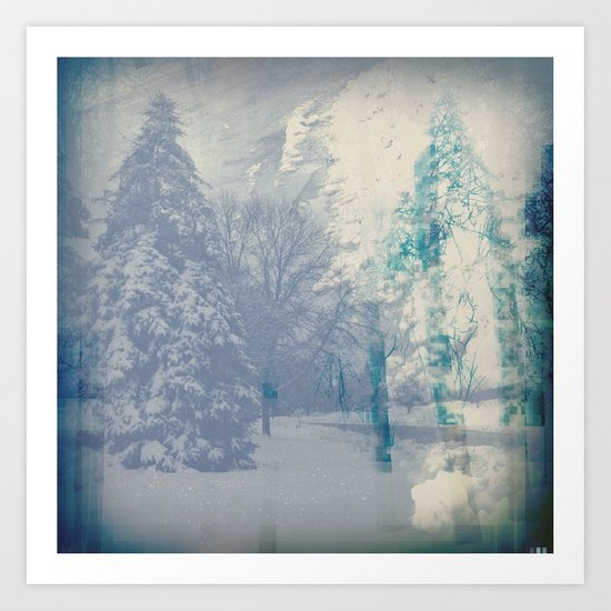 February Storm in Abstract Art Print