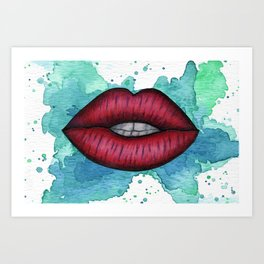 Red Lips Art Print