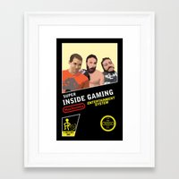 inside gaming Framed Art Prints featuring 8 Bit Inside Gaming by Jin Smoth