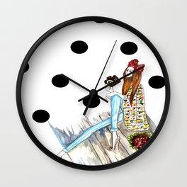 Dots & bow Wall Clock
