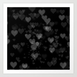 Black Hearts 01 Art Print