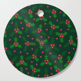 Holly Berries Cutting Board