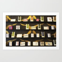 Chocolate Shelf Art Print