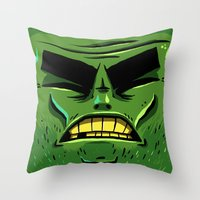 zombie Throw Pillows featuring Zombie by Terry Mack