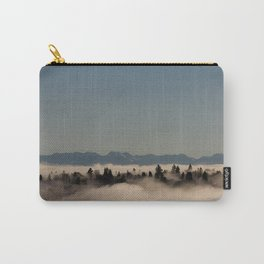 Seattle in the fog - Capitol Hill and the Cascades Carry-All Pouch