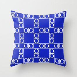 angle blue & yellow Throw Pillow