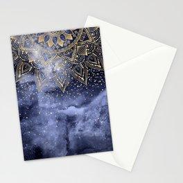 whimsical gold mandala confetti design Stationery Cards