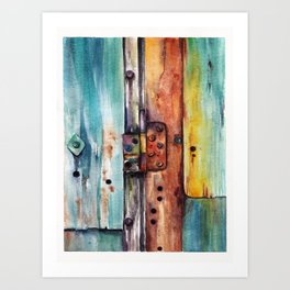 Old and rusty Art Print