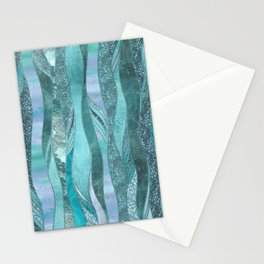 Precious Aqua And Turquoise Glamour Stationery Cards