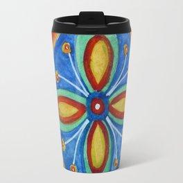 Watercolor Mexican Abstract Floral Art - Tile 5475 Travel Mug