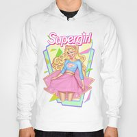 supergirl Hoodies featuring SUPERGIRL by OSKAR V.