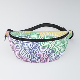 Rainbow Line of Cocaine Fanny Pack