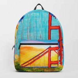 Golden Gate At Sunset Backpack