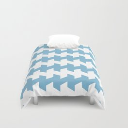 jaggered and staggered in dusk blue Duvet Cover