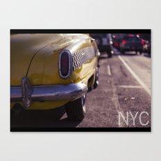 A Yellow Cab  Canvas Print