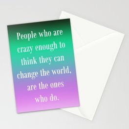 Change the World Stationery Cards