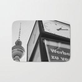 Berlin Clock BW Bath Mat