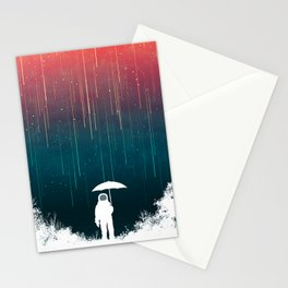 Meteoric rainfall Stationery Cards
