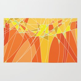 Abstract geometric orange pattern, vector illustration Rug