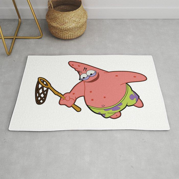 Savage Patrick Star Meme Evil Angry Spongebob Squarepants Rug by pockying