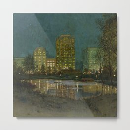 Central Park and Plaza Hotel, NY, NY by William Anderson Coffin Metal Print