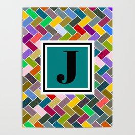 J Monogram Poster