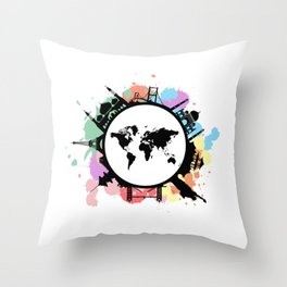 It's travel time Throw Pillow