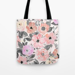 Elegant simple watercolor floral Tote Bag