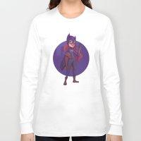 batgirl Long Sleeve T-shirts featuring Batgirl by Blanca Limón